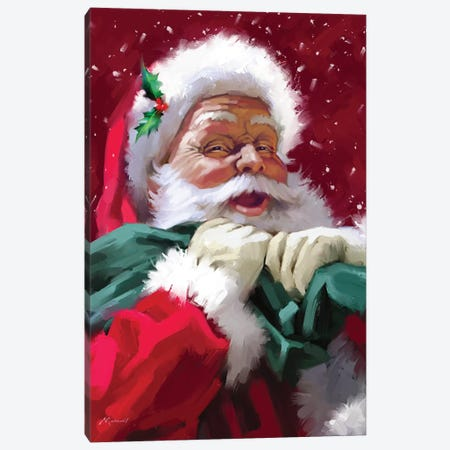 Santa's Face Canvas Print #MNS571} by The Macneil Studio Canvas Art Print