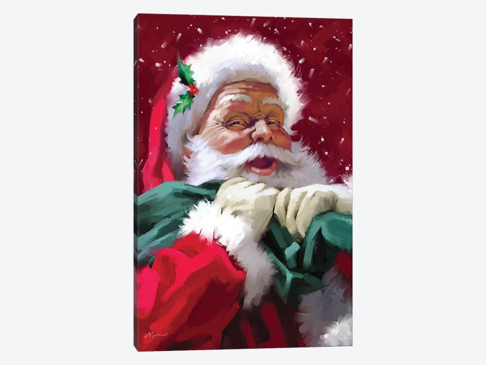 Santa's Face by The Macneil Studio 1-piece Canvas Print