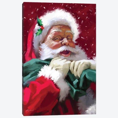 Santa's Face Canvas Print #MNS571} by The Macneil Studio Canvas Art Print