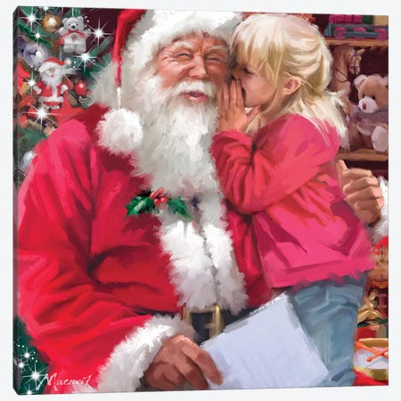 Santa's Grotto I Canvas Print #MNS572} by The Macneil Studio Canvas Art Print