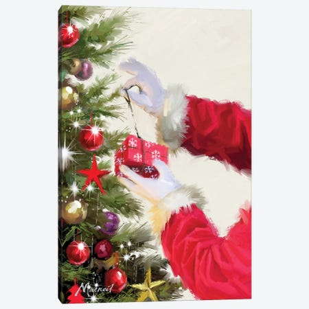 Santa's Hands Canvas Print #MNS574} by The Macneil Studio Canvas Wall Art