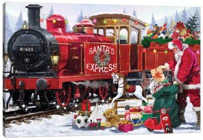 Santa's Train I Canvas Art Print