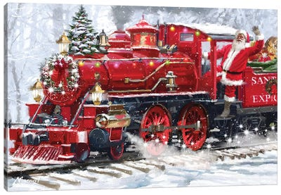 Santa's Train III Canvas Art Print