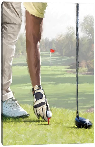 Golfer Canvas Art Print