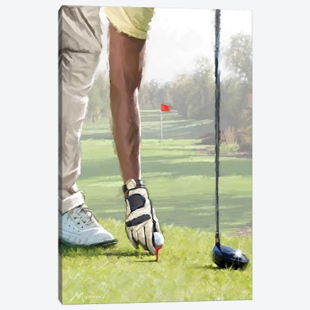 Golfer Canvas Print #MNS57} by The Macneil Studio Canvas Wall Art