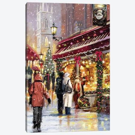 Shopping Canvas Print #MNS586} by The Macneil Studio Art Print