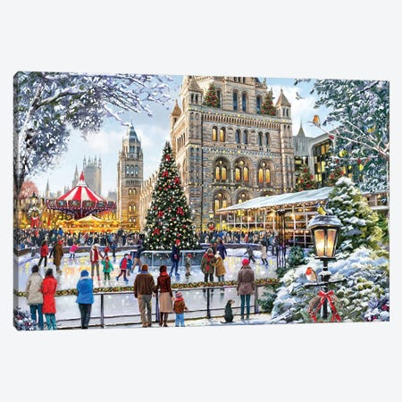 Skating Outside Natural History Museum Canvas Print #MNS593} by The Macneil Studio Art Print