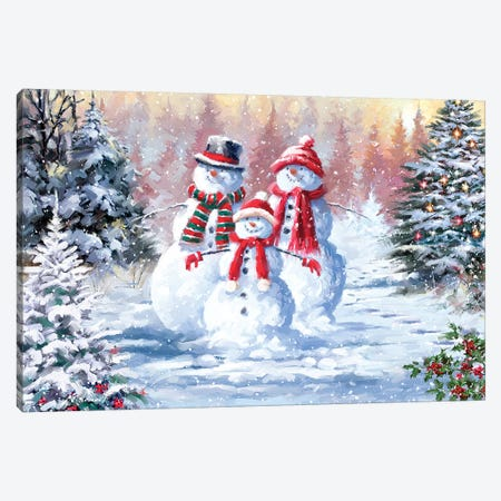 Snow Family III Canvas Print #MNS605} by The Macneil Studio Canvas Artwork