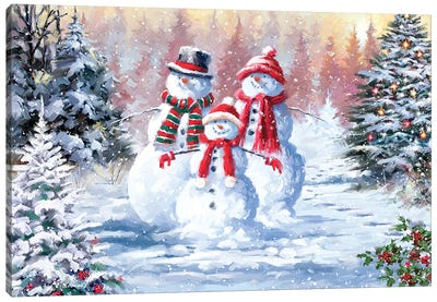 Snow Family III Canvas Art Print