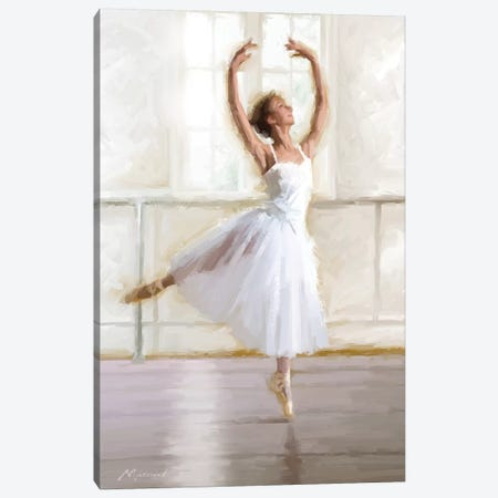 Ballet Dancer Canvas Print #MNS60} by The Macneil Studio Canvas Art