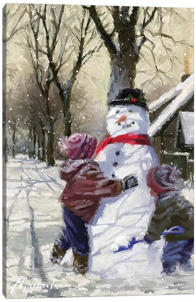 Snowfriend Canvas Art Print