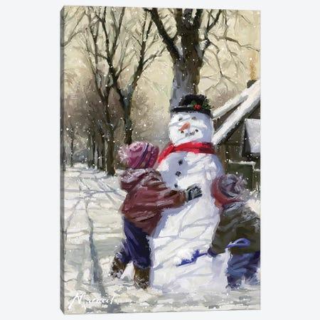 Snowfriend Canvas Print #MNS610} by The Macneil Studio Canvas Art