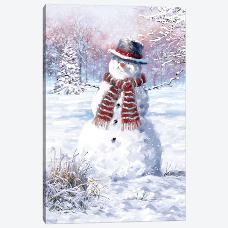 Snowman Canvas Print #MNS612} by The Macneil Studio Canvas Artwork