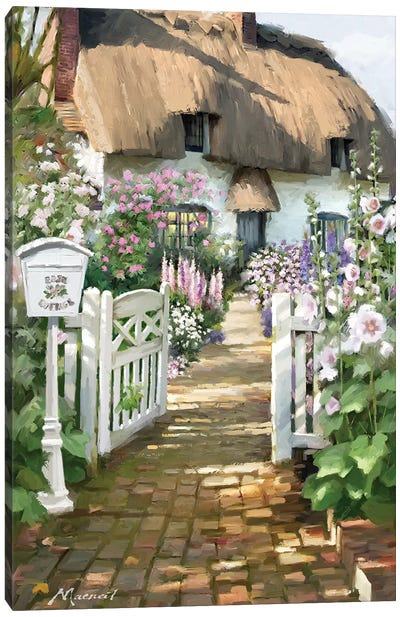 Cottage Postbox Canvas Art Print