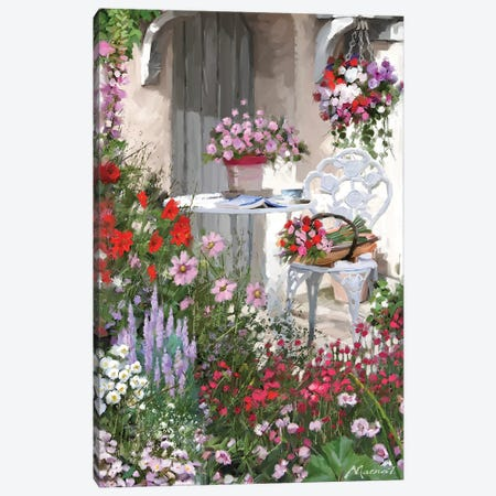 Garden Chair Canvas Print #MNS65} by The Macneil Studio Canvas Art Print