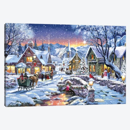 Tinsel Town Canvas Print #MNS661} by The Macneil Studio Canvas Art Print