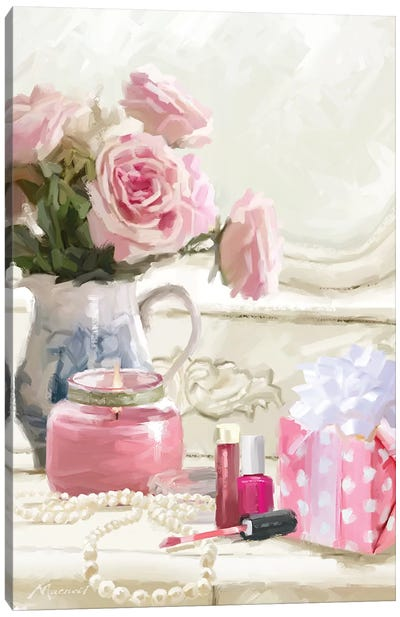 Close Up Dress Table Canvas Art Print