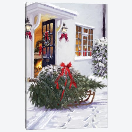 Tree For Xmas Canvas Print #MNS673} by The Macneil Studio Canvas Artwork