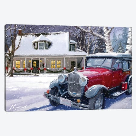 Vintage Car Canvas Print #MNS695} by The Macneil Studio Canvas Art Print