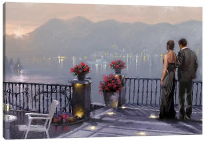 Lake Cafe Canvas Art Print