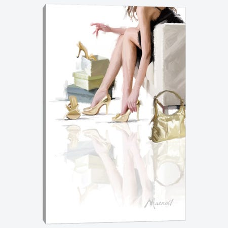 Buying Shoes 3-Piece Canvas #MNS6} by The Macneil Studio Canvas Print
