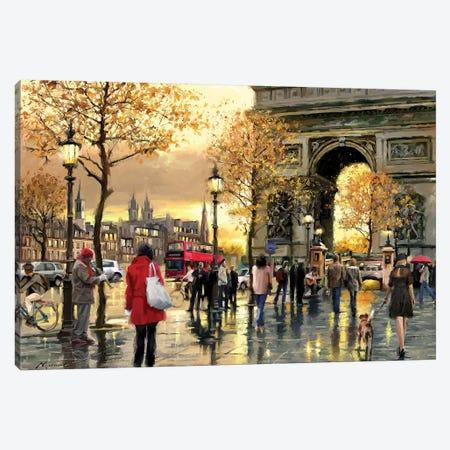 Arc De Triumph Canvas Print #MNS72} by The Macneil Studio Canvas Art Print