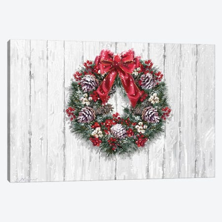 Wreath On Panel Canvas Print #MNS737} by The Macneil Studio Canvas Wall Art