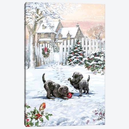 Xmas Pups Canvas Print #MNS757} by The Macneil Studio Canvas Art
