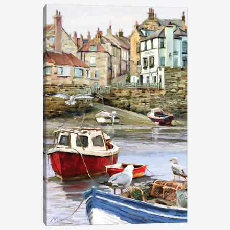 Seagull Harbour Canvas Print #MNS76} by The Macneil Studio Canvas Artwork