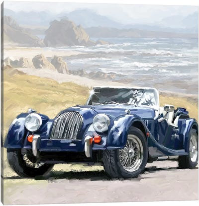 Coast Road Square Canvas Art Print