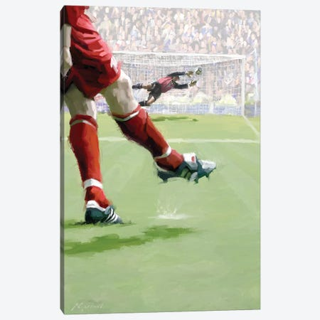 Penalty Kick Canvas Print #MNS87} by The Macneil Studio Canvas Print