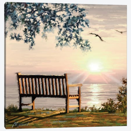 Ocean View Canvas Print #MNS8} by The Macneil Studio Canvas Artwork