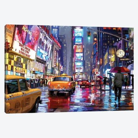 Times Square Canvas Print #MNS90} by The Macneil Studio Canvas Print