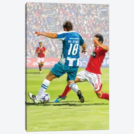 Football Players Canvas Print #MNS92} by The Macneil Studio Art Print