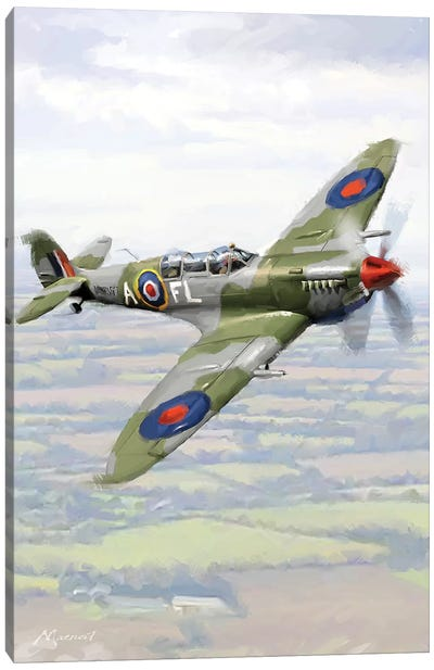 Spitfire Canvas Art Print