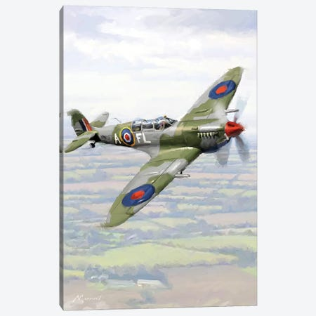 Spitfire Canvas Print #MNS96} by The Macneil Studio Canvas Artwork