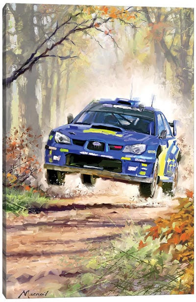 Rally Car Canvas Art Print