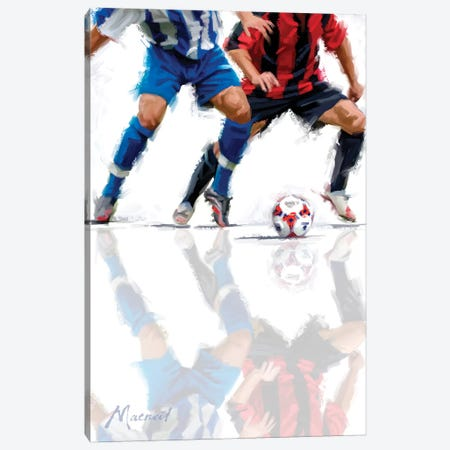 Football I Canvas Print #MNS9} by The Macneil Studio Canvas Artwork