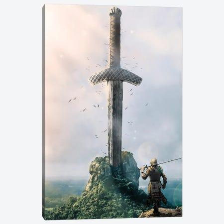 Excalibur Canvas Print #MNU18} by Manuel Luces Canvas Art Print