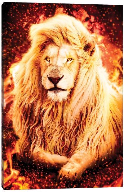 Fire Lion Canvas Art Print