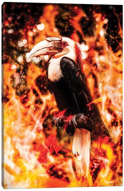 Fire Toucan Canvas Art Print