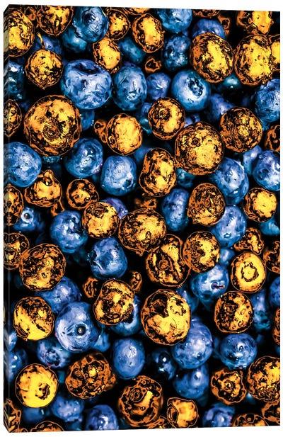 Golden Blueberries Canvas Art Print