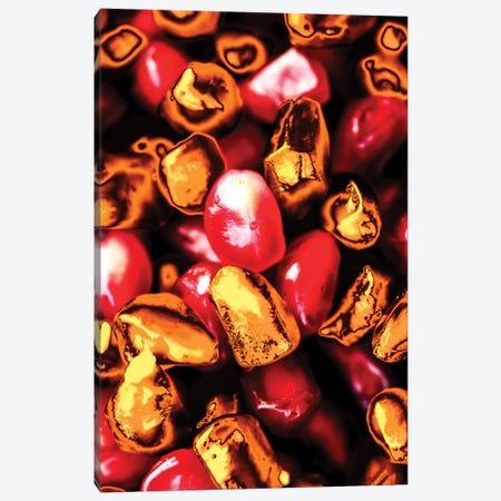 Golden Pomegranate Seeds Canvas Print #MNU37} by Manuel Luces Canvas Artwork