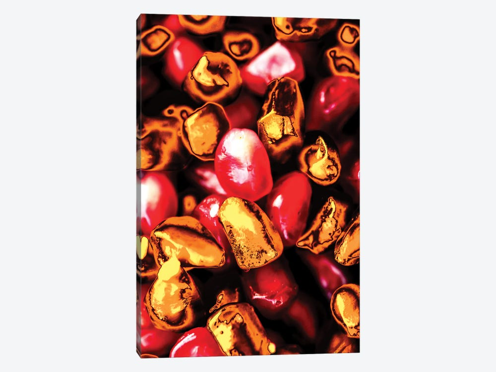 Golden Pomegranate Seeds by Manuel Luces 1-piece Canvas Print