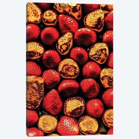 Golden Strawberries Canvas Print #MNU38} by Manuel Luces Art Print