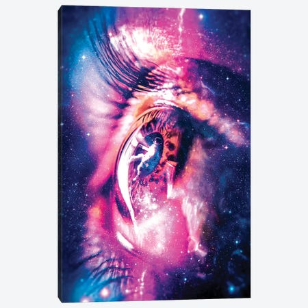 Lost Astronaut Canvas Print #MNU48} by Manuel Luces Canvas Wall Art