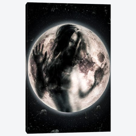 Moon Girl Canvas Print #MNU51} by Manuel Luces Art Print