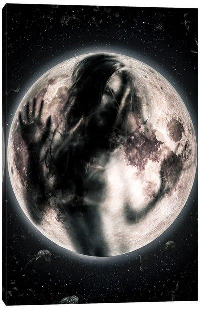 Moon Girl Canvas Art Print