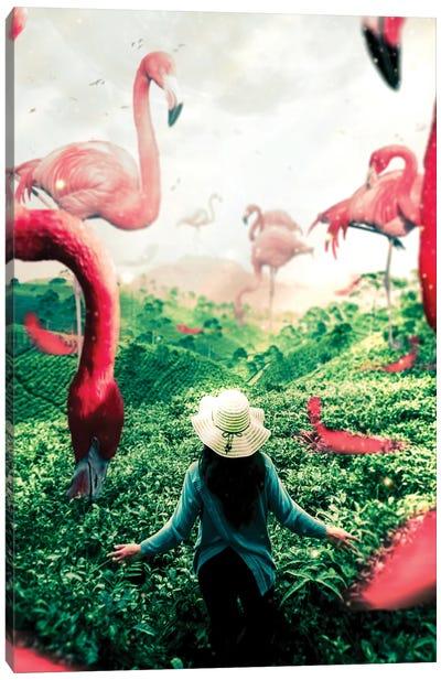 Planet Flamingo Canvas Art Print