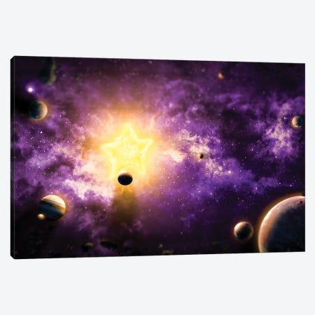 Solar System Canvas Print #MNU64} by Manuel Luces Art Print